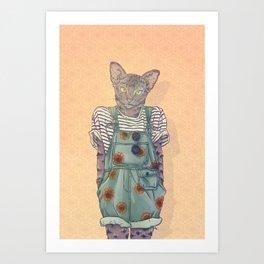 Daisy the Abyssinian Cat Art Print