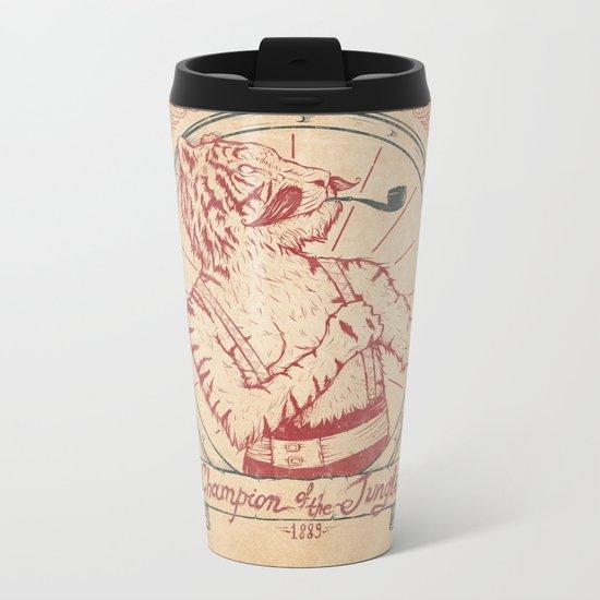 Champion of the Jungle Metal Travel Mug