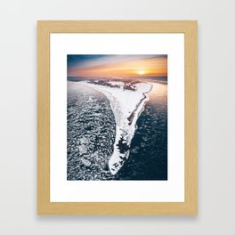 Confluence of two rivers Framed Art Print