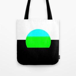 Aqua Blue & Green Mod Art Tote Bag
