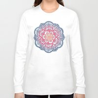 bedding Long Sleeve T-shirts featuring Radiant Medallion Doodle by micklyn