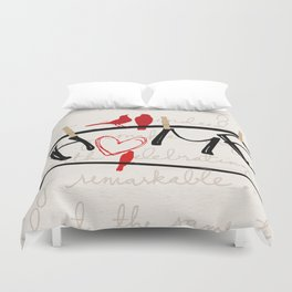 Home Letters Red Bird Clothesline A712 Duvet Cover