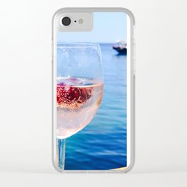 Rosé by the bay Clear iPhone Case