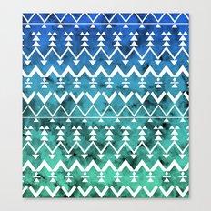 Triangle Tribal Canvas Print