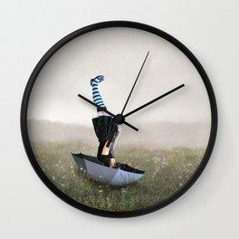 Umbrella melancholy Wall Clock