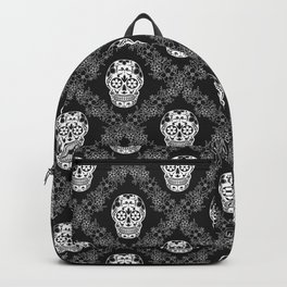 Skull with floral ornament Backpack