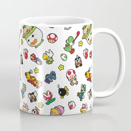 It's a really SUPER Mario pattern! Coffee Mug