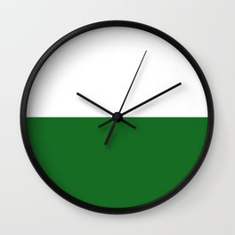Saxony region flag germany province Wall Clock