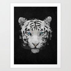 Meduzzle: White Tiger Art Print