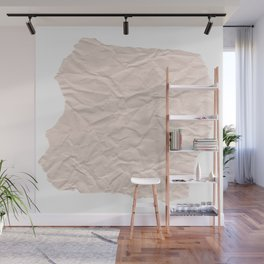 crumpled paper. Kraft paper Wall Mural