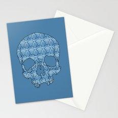 Vintage blue skull Stationery Cards