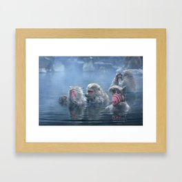 Bathing ALF Framed Art Print