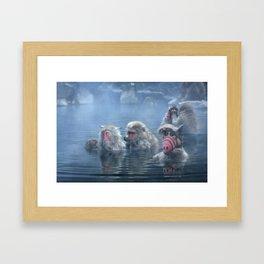 Bathing ALF Framed Art Print