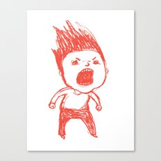 Angry Guy Canvas Print