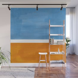 Rothko Minimalist Abstract Mid Century Color Black Square Periwinkle Yellow Ochre Wall Mural