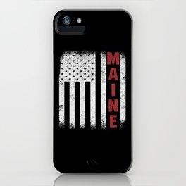 Maine USA Flag iPhone Case