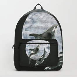 orcas' moon dance Backpack
