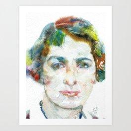 VERA BRITTAIN watercolor portrait Art Print