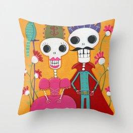 Throne of Bone Throw Pillow