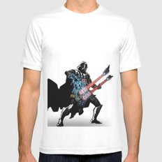 Darth Vader Force Guitar Solo White Mens Fitted Tee MEDIUM