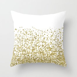 Gilded confetti Throw Pillow