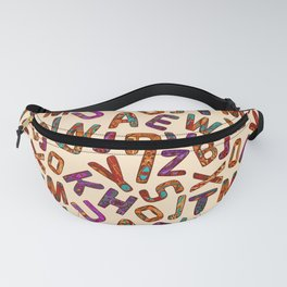 Zentangle Alphabet Letters Fanny Pack