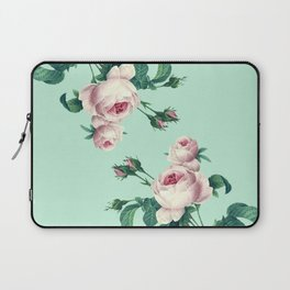 Roses Mint Green + Pink Laptop Sleeve