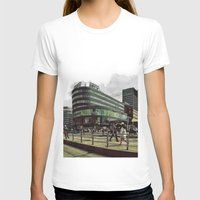 oslo T-shirts featuring Modern city center of Oslo in Norway by Sunsetter Impact