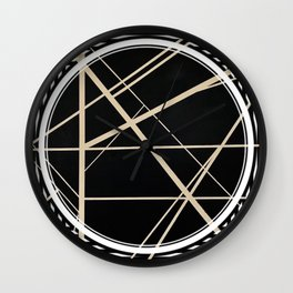 Crossroads - circle/line graphic Wall Clock