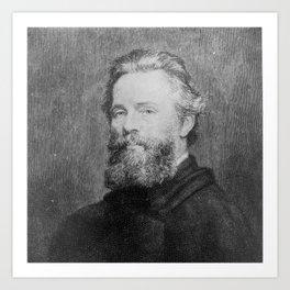 Joseph Oriel Eaton -portrait of Herman Melville Art Print