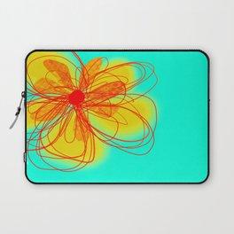 Yellow Flower Art by Ann Powell Laptop Sleeve