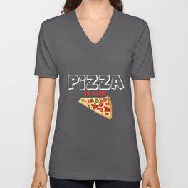 Pizza is Life Unisex V-Neck