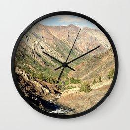 Lundy Canyon Mountains Wall Clock