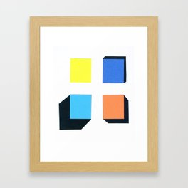 Squares in cross Framed Art Print