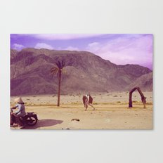 Back to nature with my cart...wait - there is no fuel?/Or: The Death of Land Canvas Print