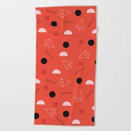 Geometric Life Beach Towel
