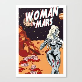 WOMAN IN MARS Canvas Print