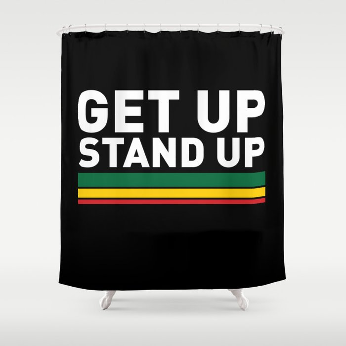 Delightful Get Up Stand Up / Rasta Vibrations Shower Curtain