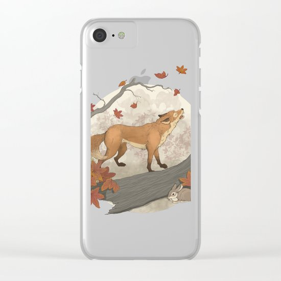 Fox and rabbit Clear iPhone Case