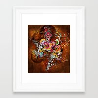 peacock Framed Art Prints featuring Peacock by Nick La