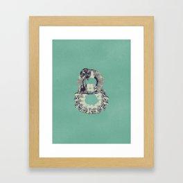 Typography - Steampunk Number 8 Framed Art Print