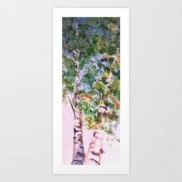 Wedding Birches Art Print