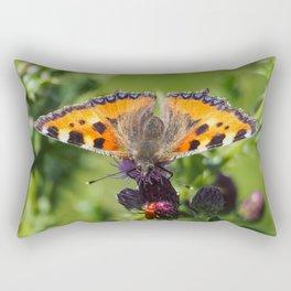 Little Tortoiseshell Buterfly Rectangular Pillow