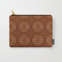 Luxury ornaments vint. Brown Eco Carry-All Pouch