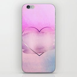 Rainbow Watercolor Heart iPhone Skin