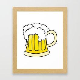 Cartoon Beer Framed Art Print