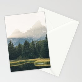 Morning at the lake Stationery Cards