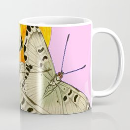 GOLDEN MOON MOTHS ON PUCE & PINK Coffee Mug