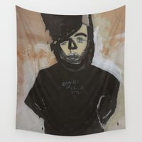 pastel goth Wall Tapestries featuring Goth by Rick Onorato