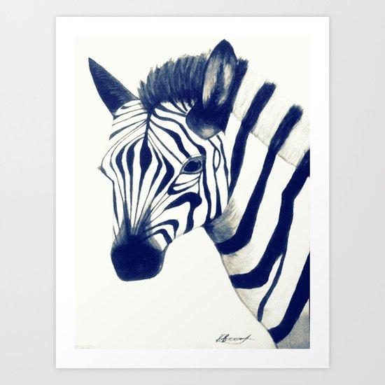 Zeeebra Art Print